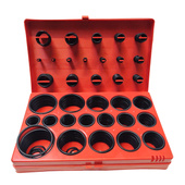 Oringi metryczne zestaw uszczelka oring 419 elementów 1090F 419 Rubber O Ring Oring Seal Plumbing Garage Set Kit 32 Sizes With Case 419pc FT-OA419 1090F