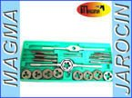 Zestaw gwintownik i narzynka 20el kalibrowników, kalibrowniki 20PCS PRO TAP AND DIE SET METRIC WRENCH CUTS  BOLTS HARD CASE ENGINEERS KIT
